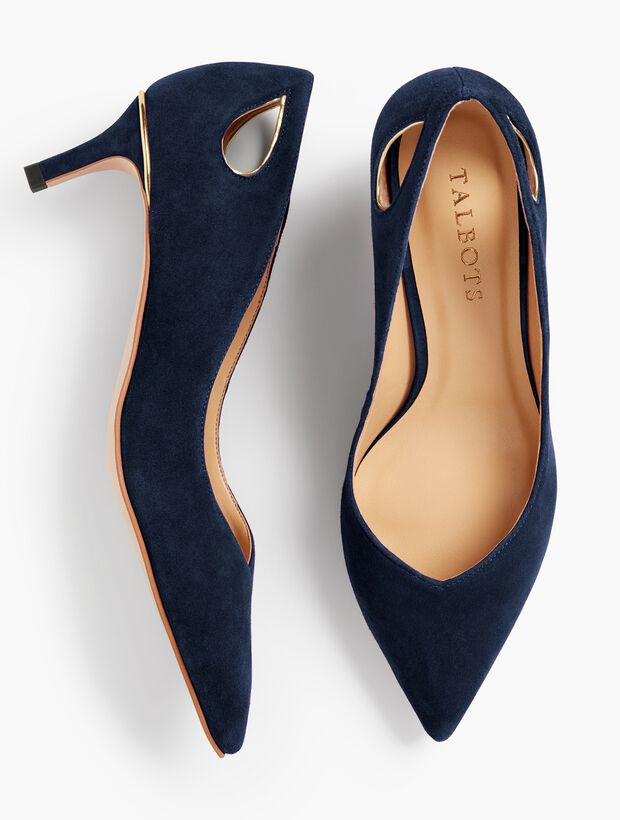 Erica Cut-Out Pumps - Solid
