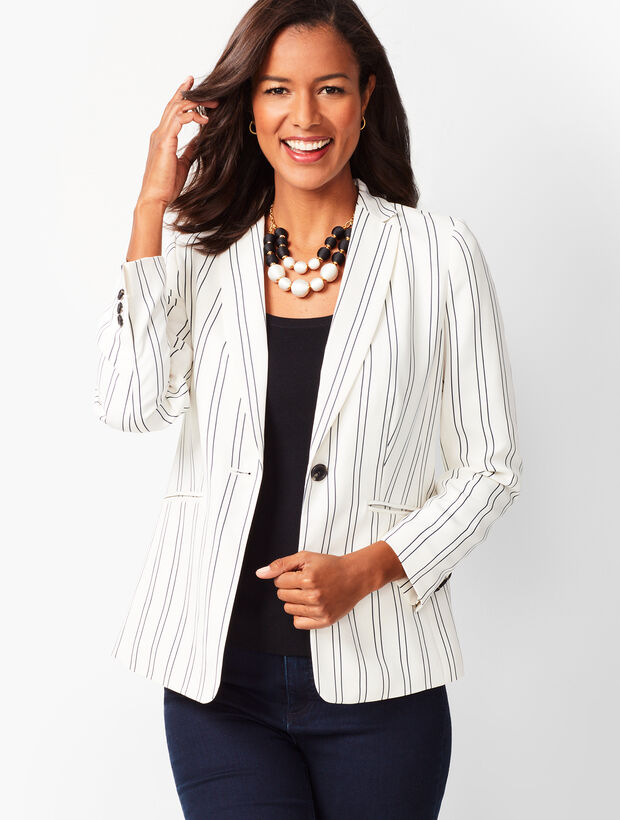 Crepe Stripe Jacket