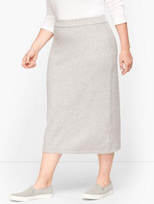 Luxe Knit Long Pencil Skirt