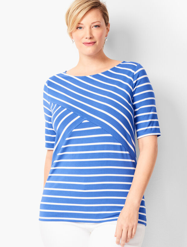 Crossover Stripe Top