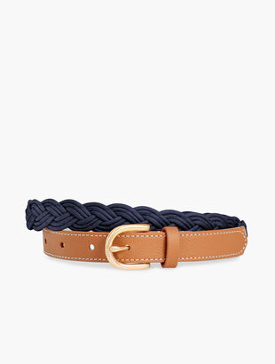 Braided Leather & Corded Belt