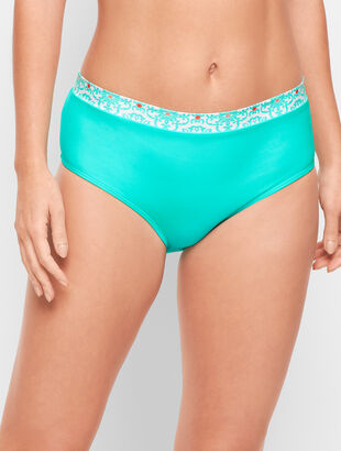 Cabana Life® High Waist Brief - Aqua Medallion