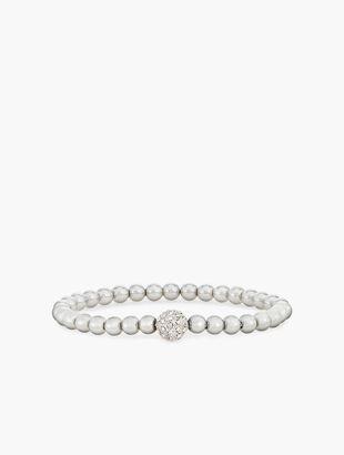 Metallic Bead Stretch Bracelet