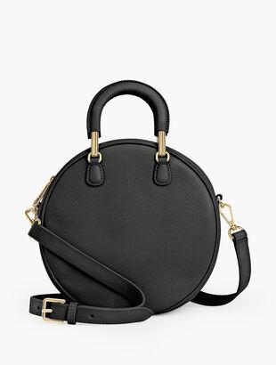 Soft Pebble Round Crossbody Bag