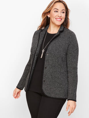 Merino Sweater Blazer - Herringbone