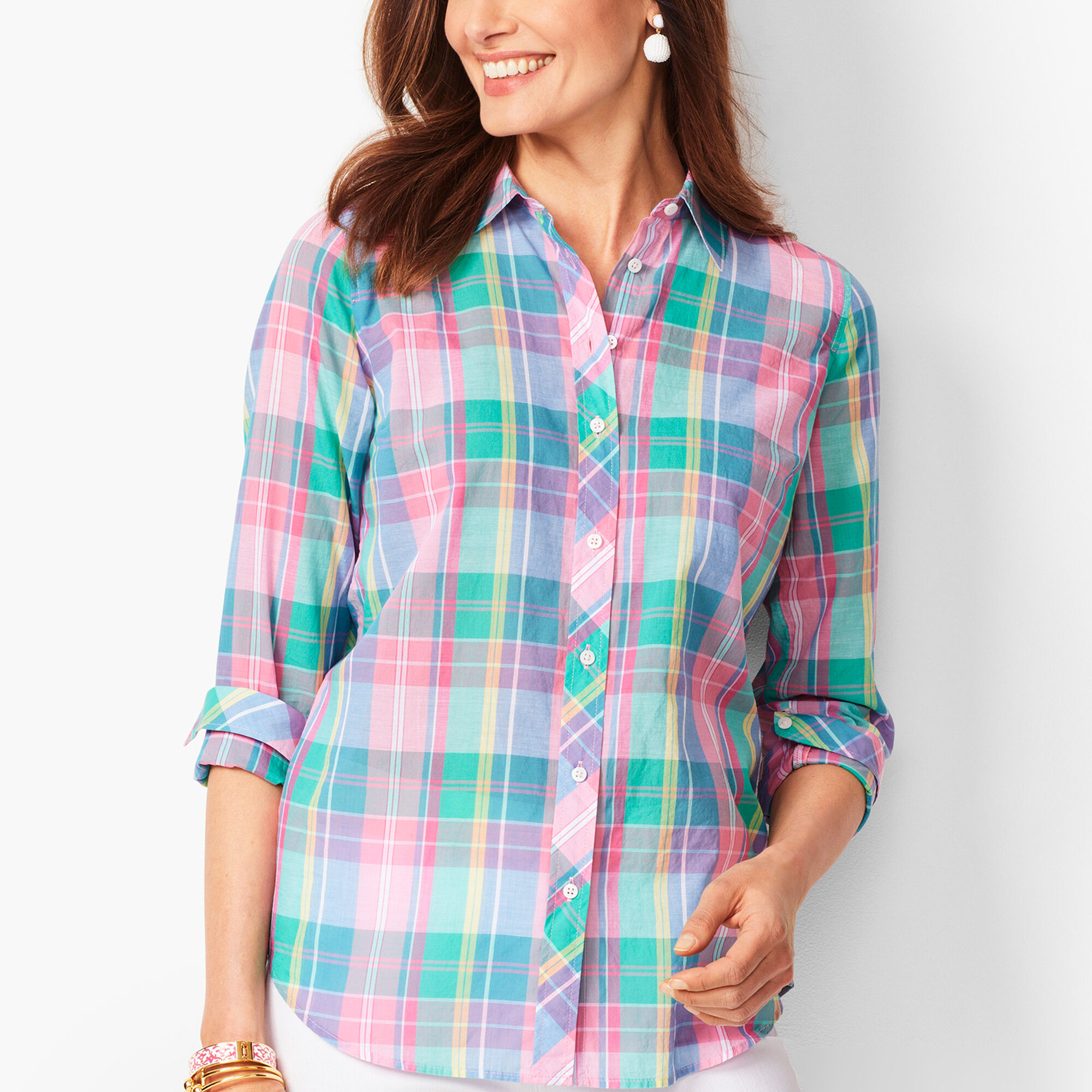 b7a89ac50d Classic Cotton Shirt - Madras Plaid