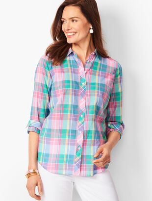 Classic Cotton Shirt - Madras Plaid
