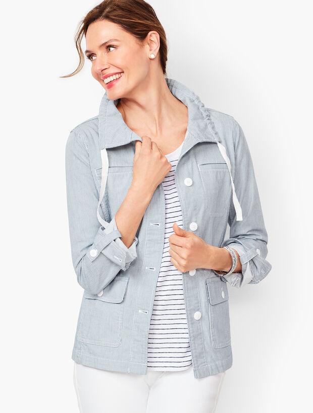 Stripe Twill Jacket