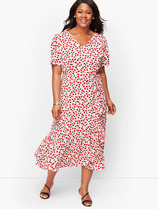 Cascade Wrap Dress - Floral