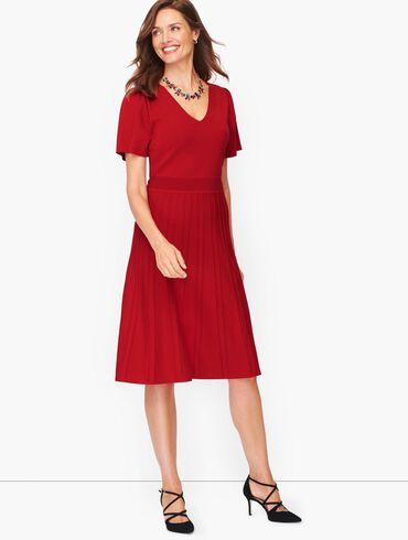 Flutter Sleeve Fit & Flare Dress