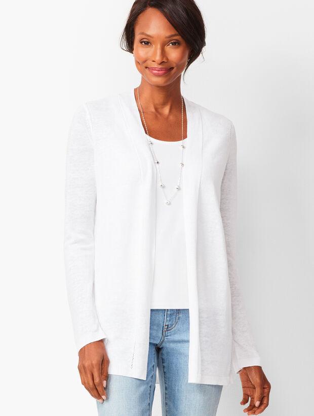 Open-Front Linen Cardigan