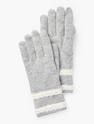 Cable Stripe Gloves