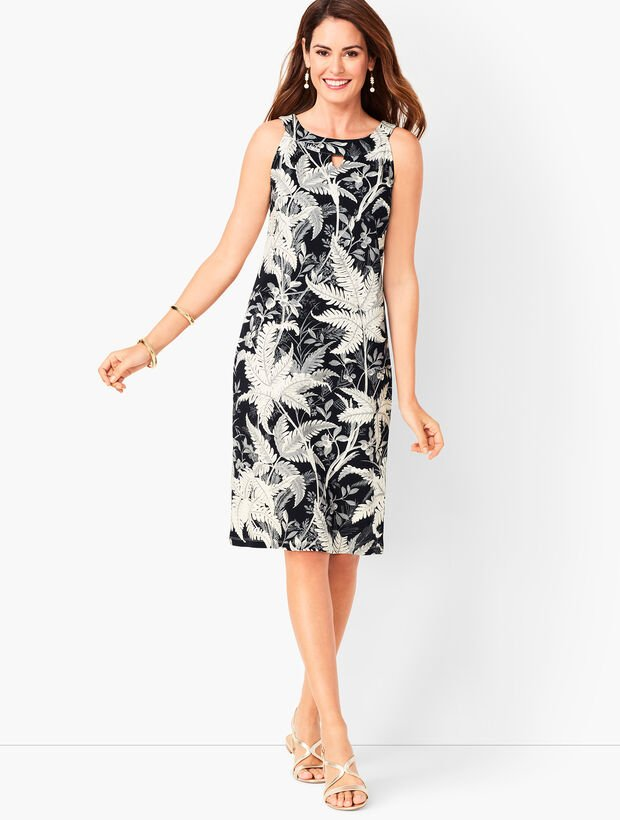 Cotton Audrey Shift Dress - Botanical