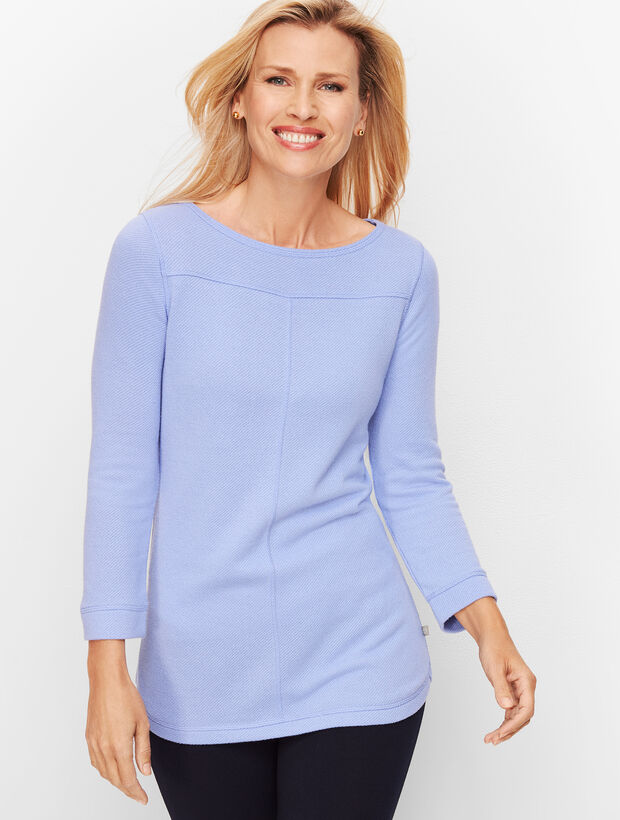 Textured French Terry Top