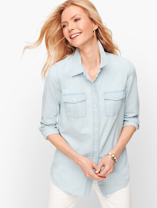 Denim Patch Pocket Shirt