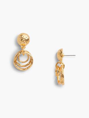 Hammered Rings Earrings