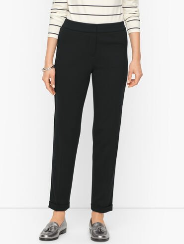 Luxe Ponte Roll Cuff Pants