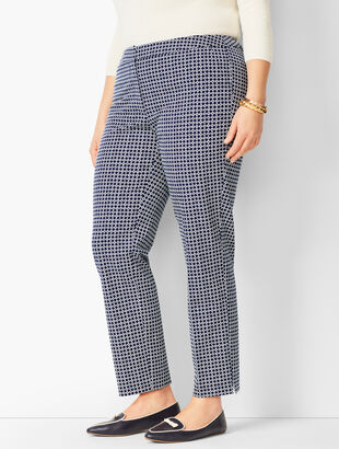 Plus Size Talbots Hampshire Ankle Pants - Geo Print