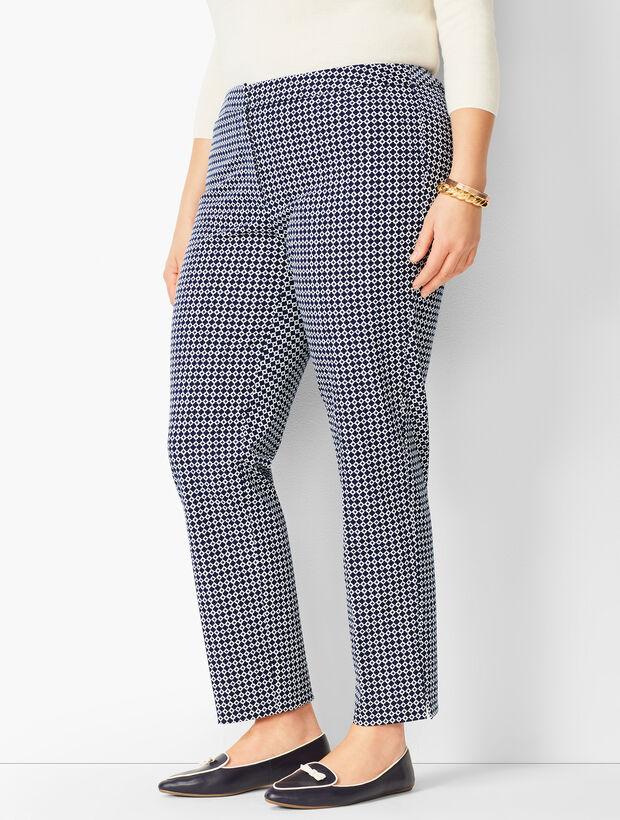 Plus Size Talbots Hampshire Ankle Pants - Geo Print