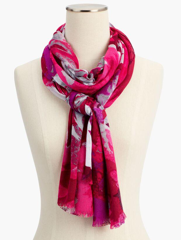 Silk & Cashmere Autumn Floral Scarf