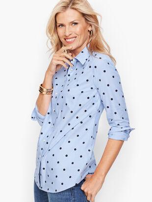Classic Cotton Shirt - Chambray Dot