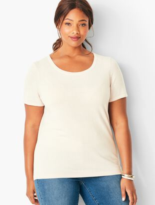 Plus Size Short Sleeve Charming Shell