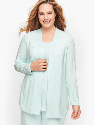 Lightweight Jersey Open Cardigan