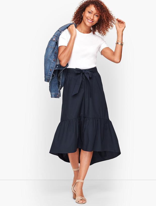 High/Low Flounce Hem Skirt