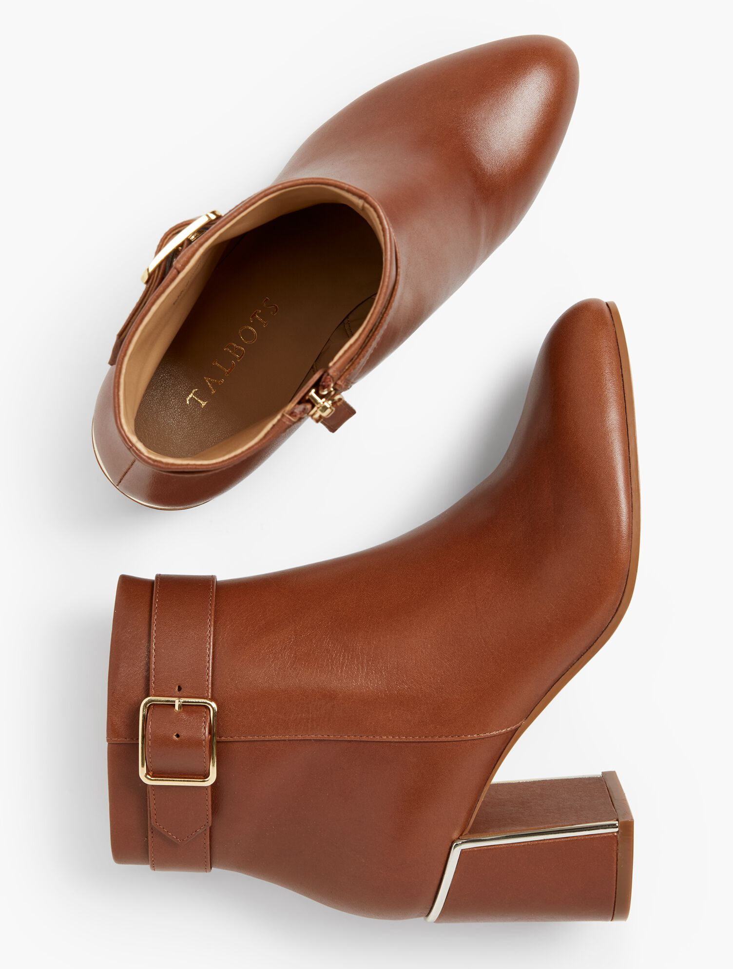 Simone Flare-Heel Ankle Boots | Talbots