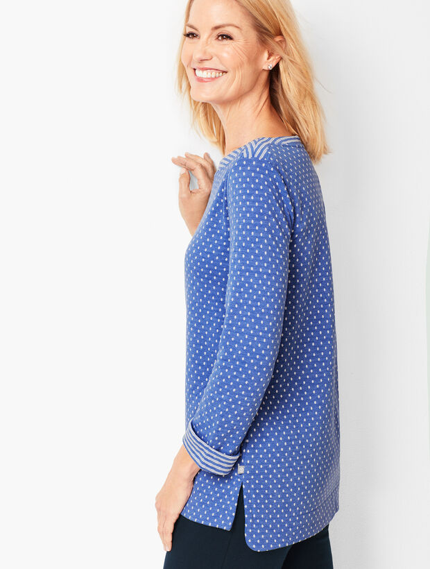 Double-Knit Dot Top
