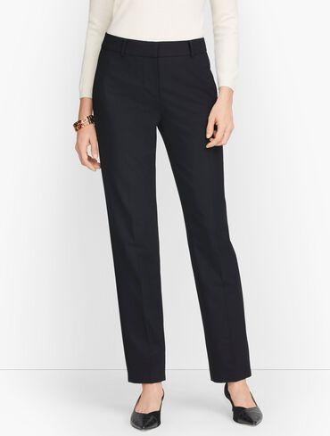 Luxe Wool Straight Leg Pants - Black