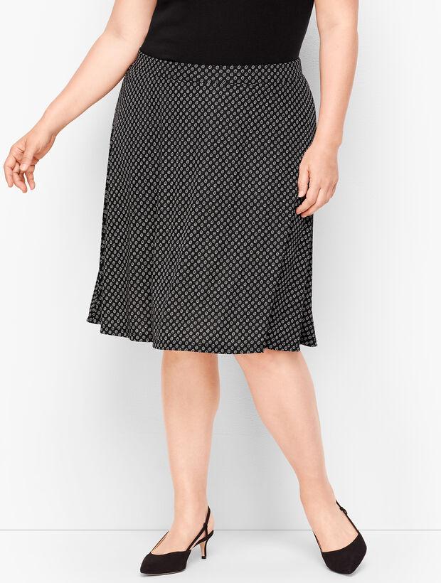 Knit Jersey Daisy Print Skirt