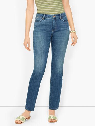 Plus Size Exclusive Slim Ankle Jeans - Atlantic Wash
