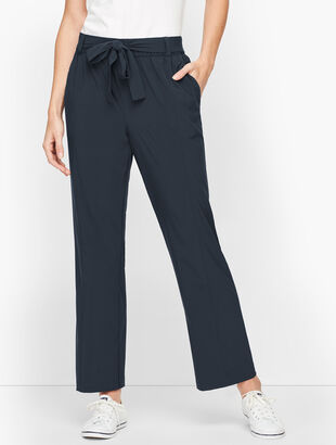 Lightweight Stretch Woven Wide Leg Pants