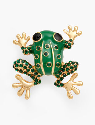 Leaping Frog Brooch