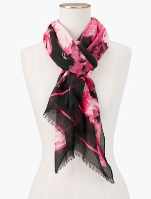Digital Flowers Scarf