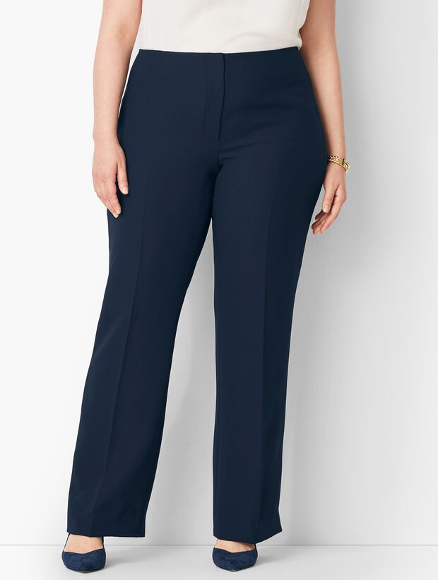 Plus Size Seasonless Crepe Wide-Leg Pants