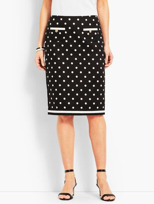 Dot Pencil Skirt