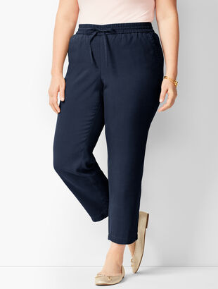 Tencel™ Textured Ankle Pants