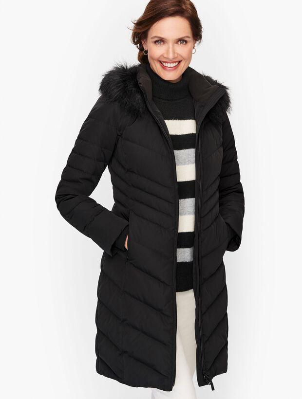 Faux Fur Trim Down Puffer Coat