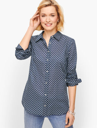 Classic Cotton Shirt - Floral Geo
