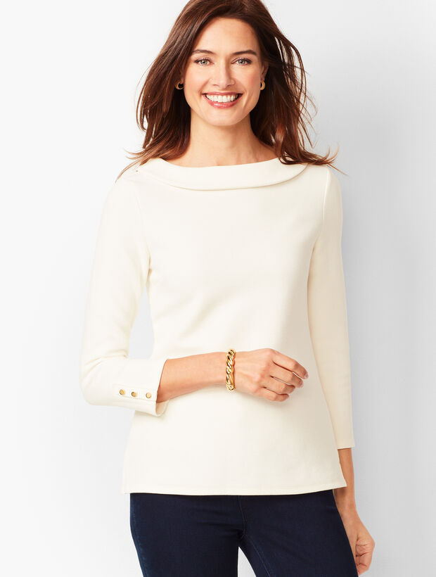 Portrait Collar Top - Solid