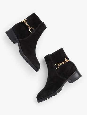 Tish Chain Suede Ankle Boots