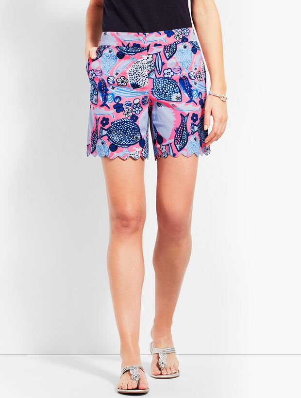 "5"" Scallop Short - Multi-Color Print"