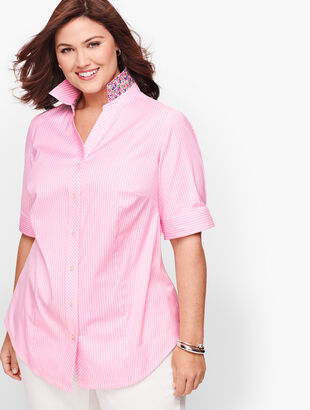 Perfect Shirt - Elbow Length Sleeves - Stripe