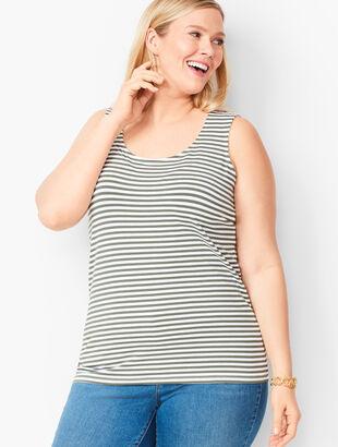 Pima Cotton Blend Tank - Stripe