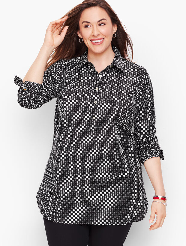 Perfect Shirt - Popover Tunic - Floral Geo