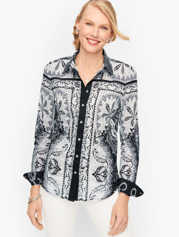 Classic Cotton Shirt - Precious Paisley
