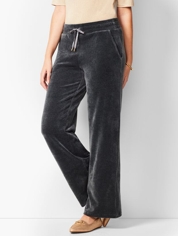 Luxe Velour Wide-Leg Pants