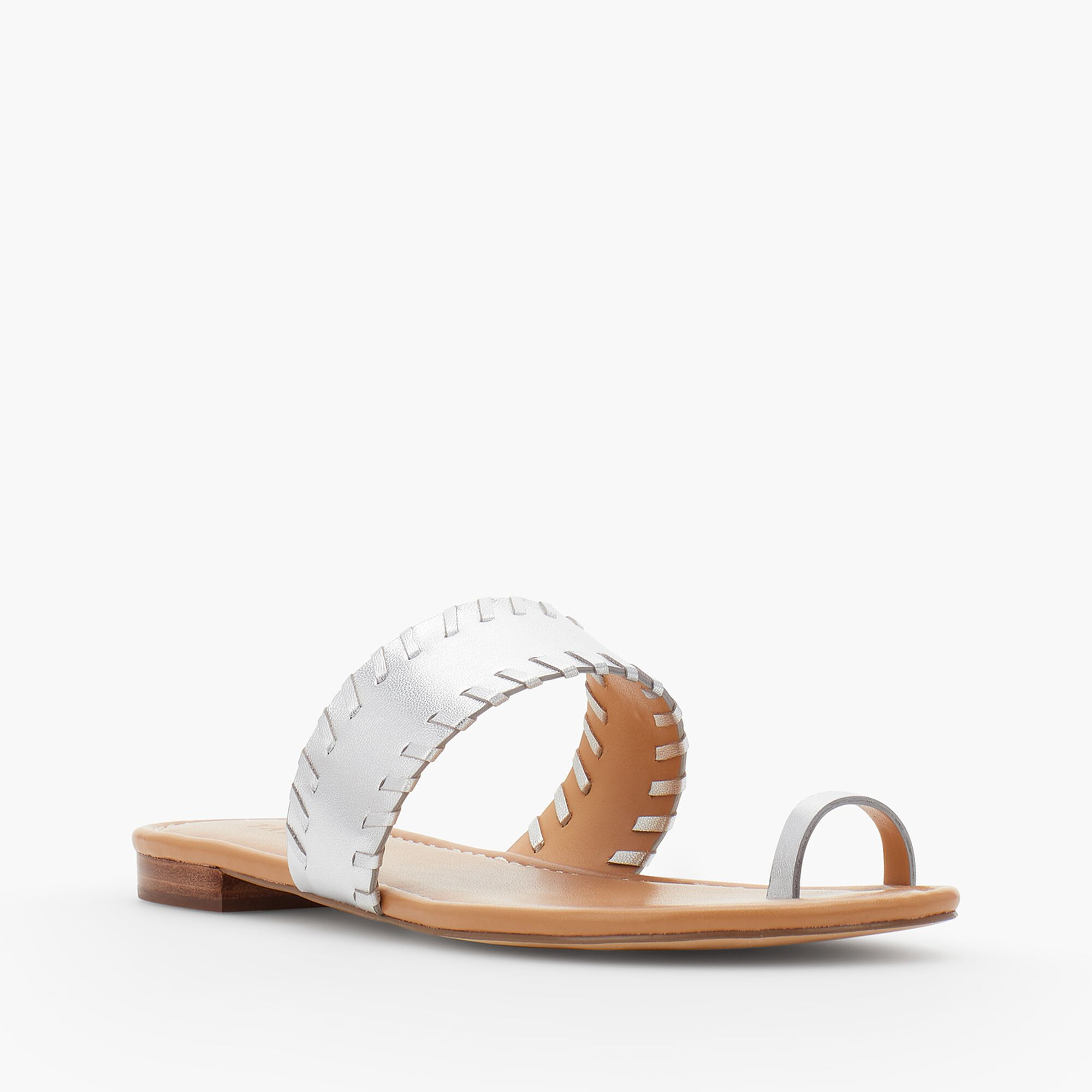 42ceb46cb Gia Toe-Ring Sandals-Metallic Leather Opens a New Window.